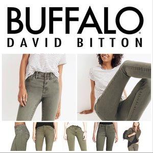 Buffalo David Bitton Jeans - olive thin/soft denim